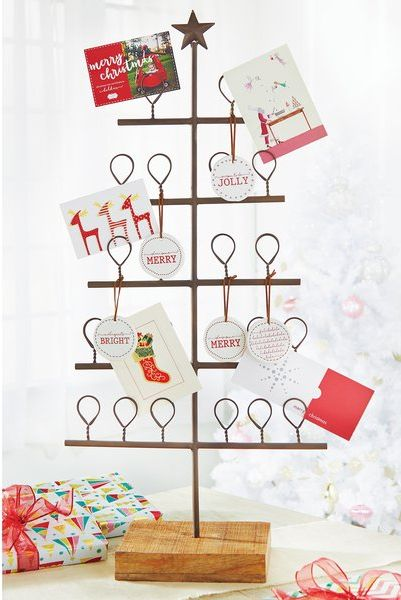 ae4a42b365f24 20 Stylish Christmas Card Holders - Best Holders for Holiday Cards