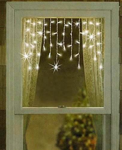 Sienna Clear Window Curtain Christmas Lights