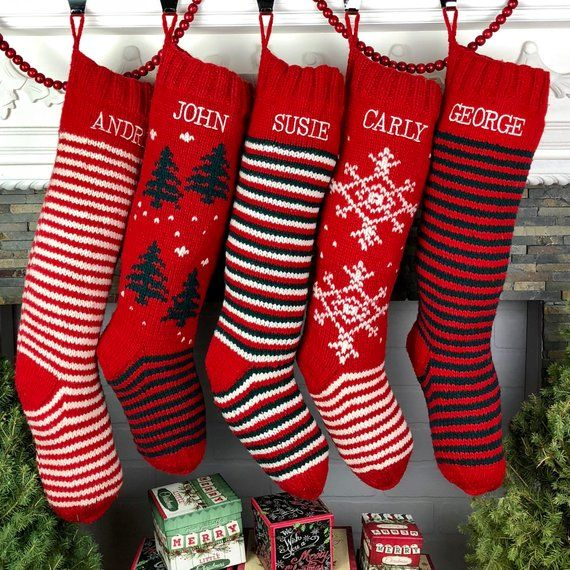 251758e5bd6 40 Best Personalized Christmas Stockings - Unique Christmas Stocking Ideas