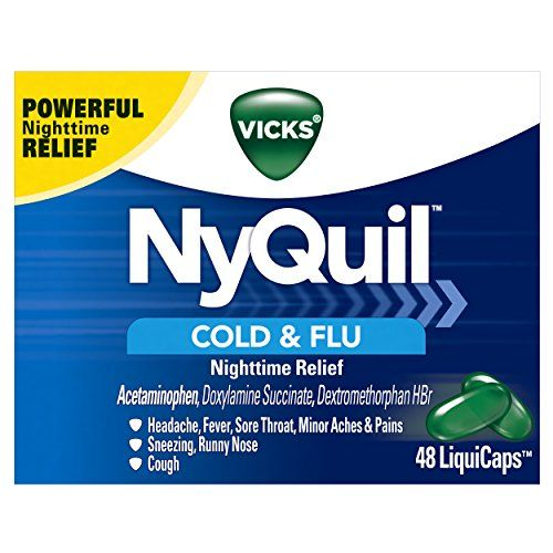 Vicks NyQuil Cough Cold and Flu Nighttime Relief