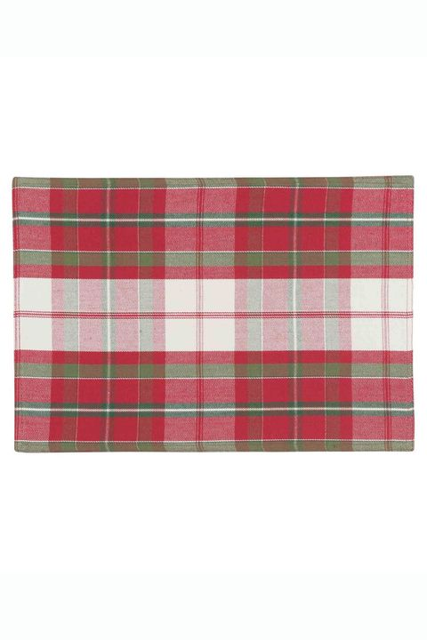 Red And Green Plaid Christmas Placemat Set Of 4