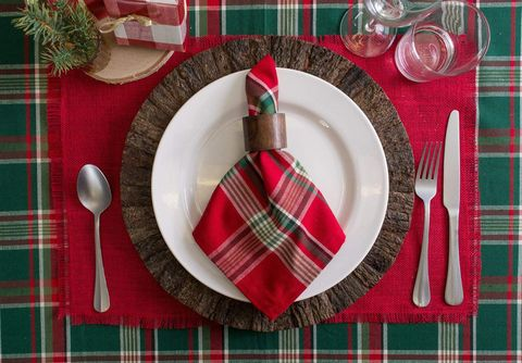 rustic red jute christmas placemats set of 6 - Christmas Placemats And Napkins