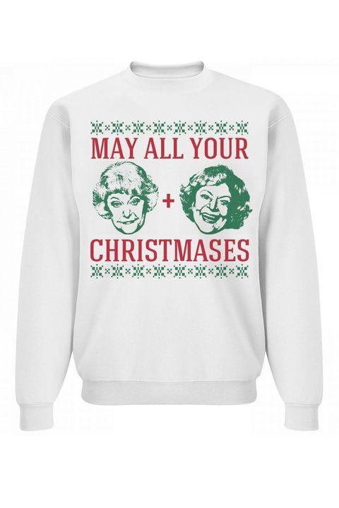 customized girl golden girls ugly christmas sweater