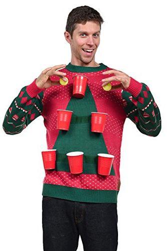 Beer Pong Ugly Christmas Sweater