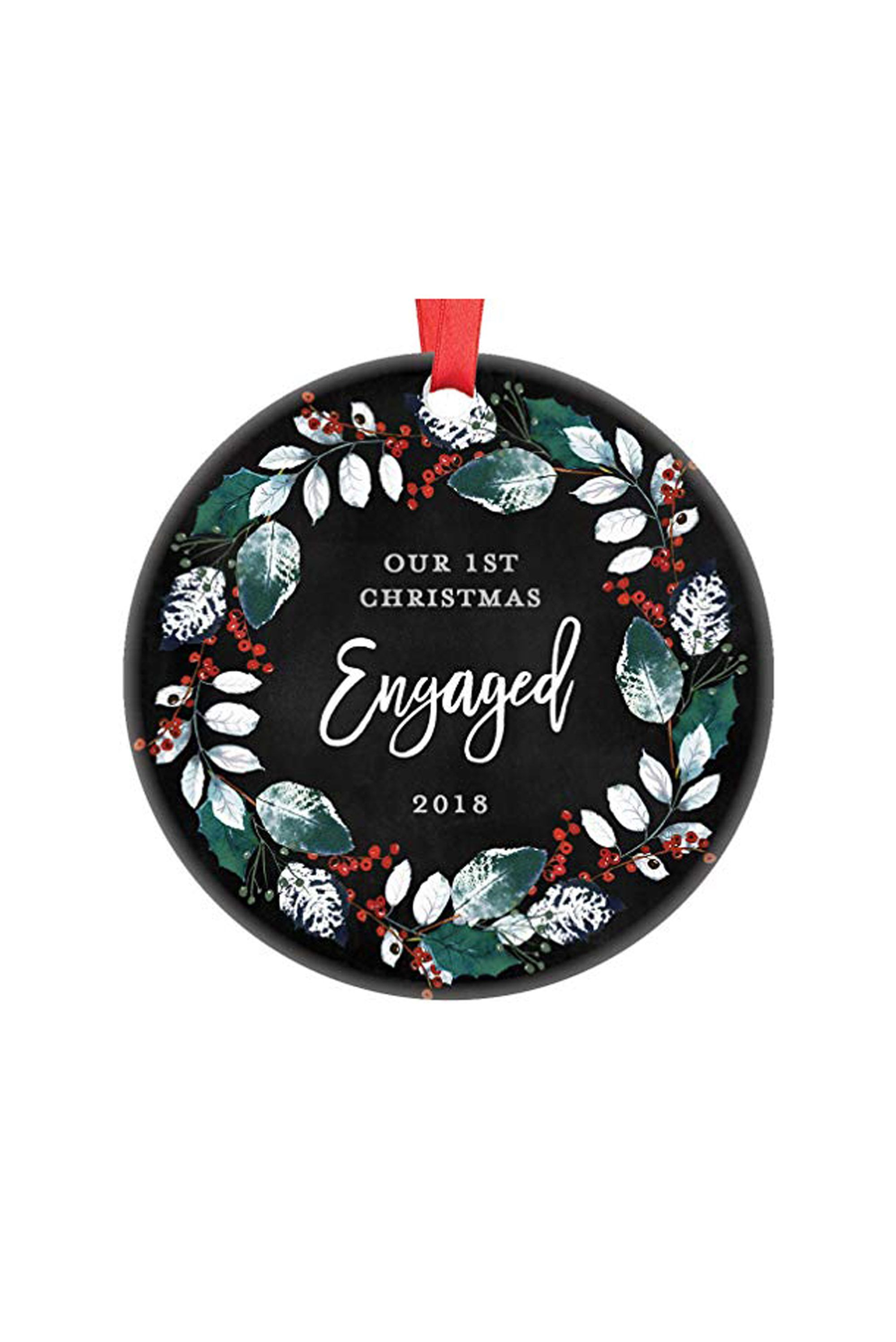 20 engagement ornaments personalized ornaments for first engaged christmas - Christmas Photo Ornaments
