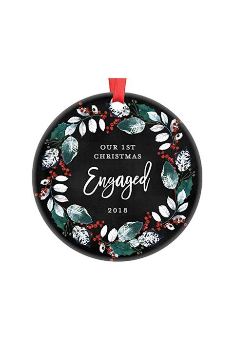 20 Engagement Ornaments Personalized Ornaments For First Engaged