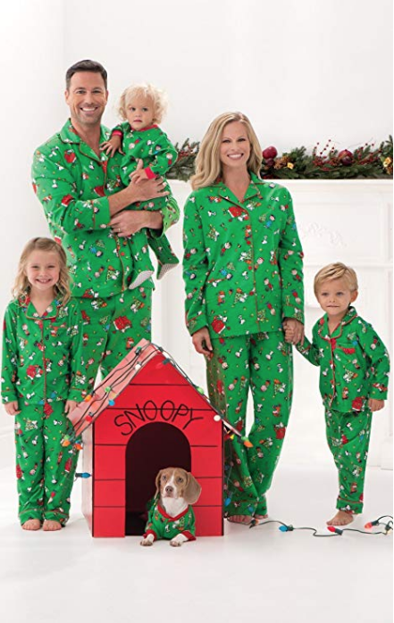 charlie brown christmas matching family pajamas