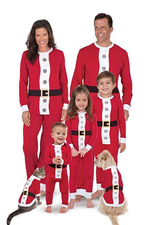 matching santa family pajamas