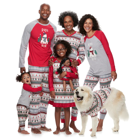 coordinating christmas pajamas