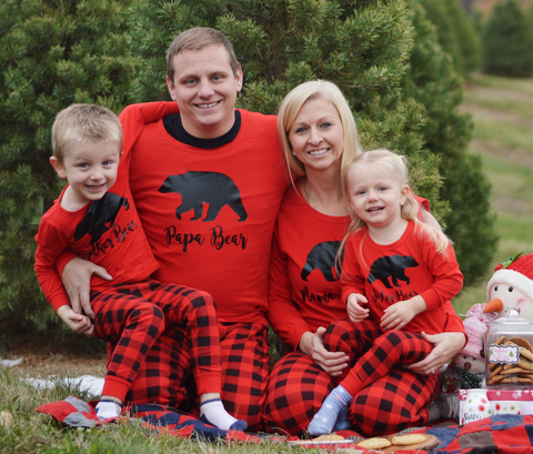 inexpensive matching family christmas pajamas