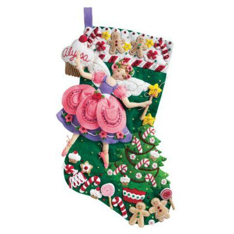 bucilla felt christmas stocking sugar plum fairy kit for kids - Christmas Stockings For Kids