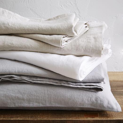 West Elm Belgian Flax Linen Sheet Set
