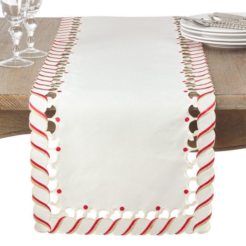 Wayfair. Candy Cane Table Runner