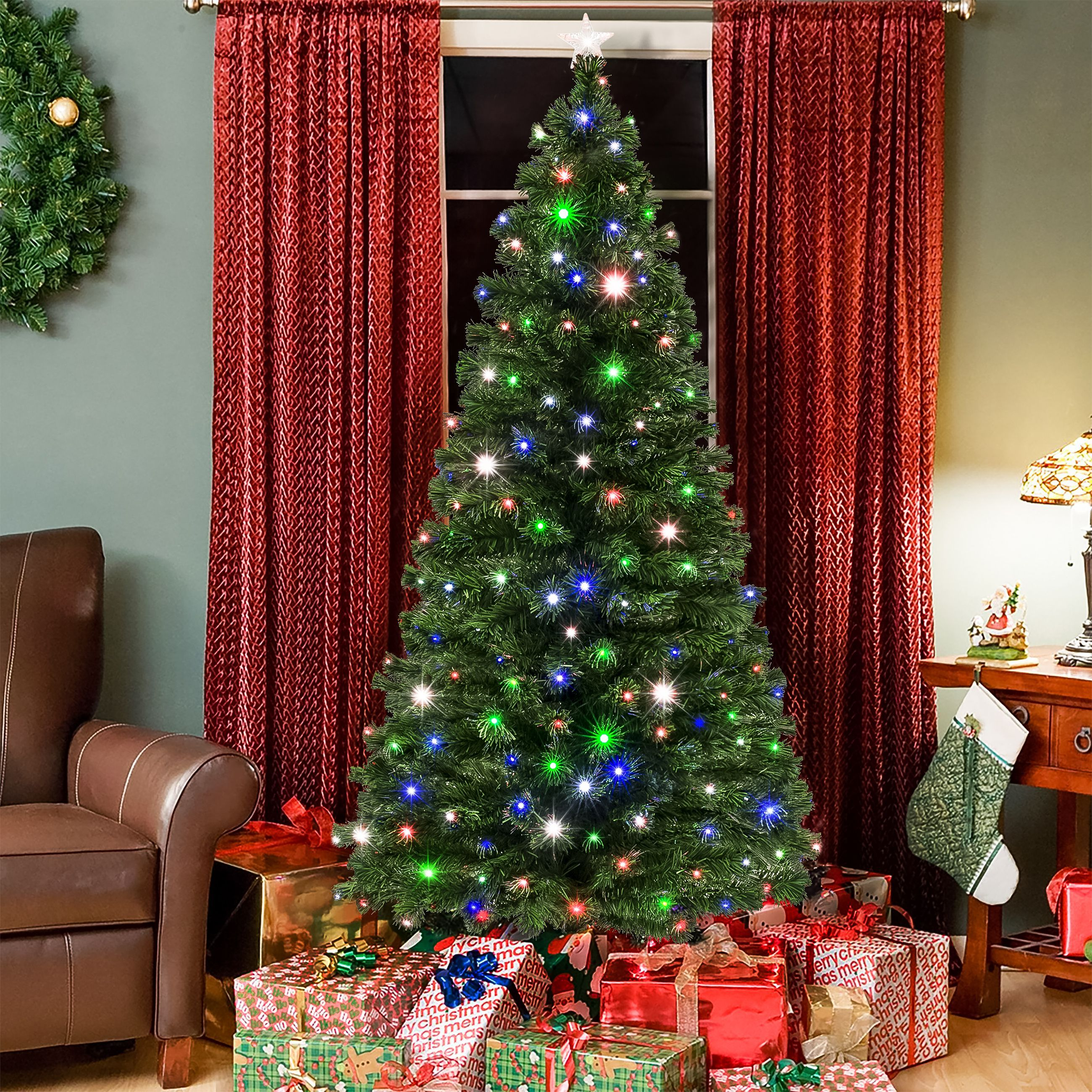 Christmas Trees Images.Pre Lit Led Tree 7 Feet