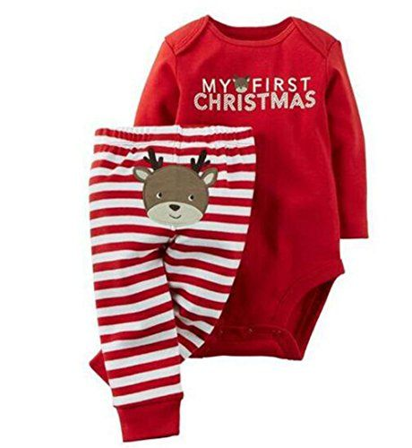 babys first christmas pajamas