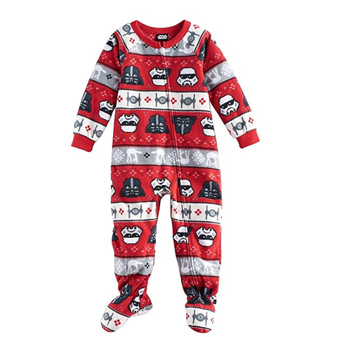star wars toddler boys fair isle fleece pajamas