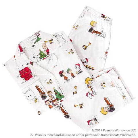 peanuts flannel pajama set