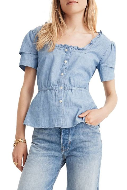 Denim Chambray Shirt Women