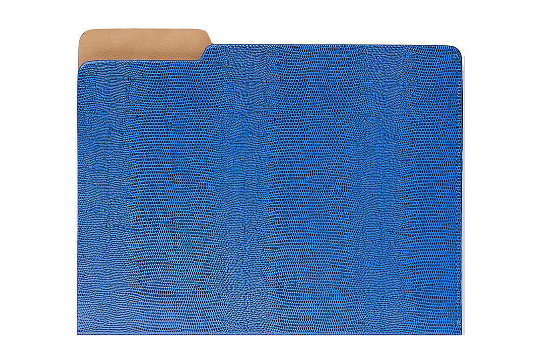 Lizard-Embossed Leather File Folder