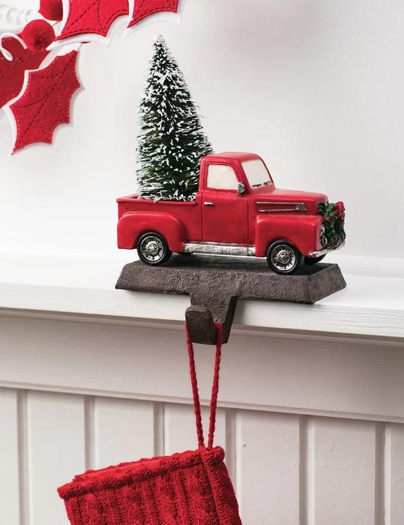 Christmas Stocking Holder.Vintage Truck Stocking Holder