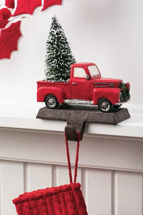 vintage truck stocking holder