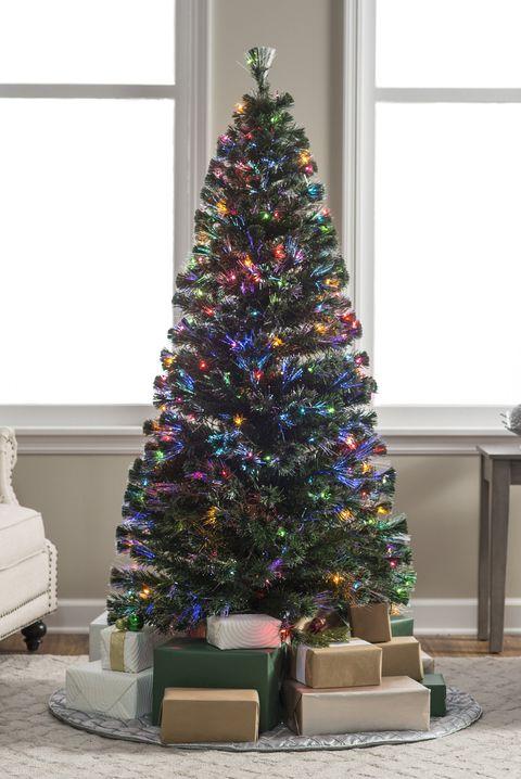 fiber optic artificial christmas tree