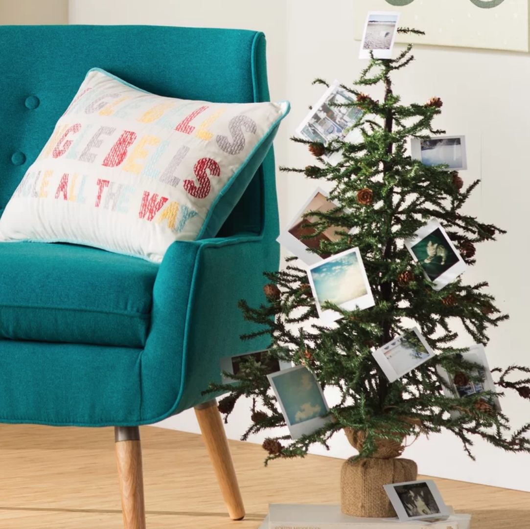 Turquoise Christmas Tree.Short Artificial Christmas Tree