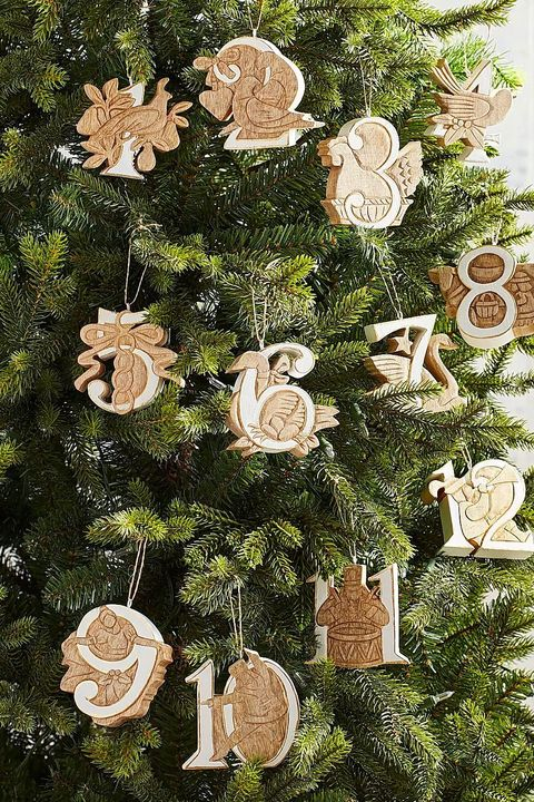 pier 1 wooden ornaments - Christmas Tree And Decorations