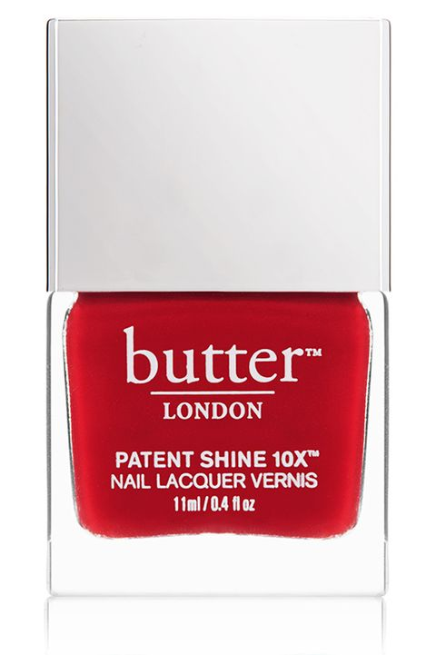 Er London Patent Shine 10x Nail Lacquer In Her Majesty S Red Derm