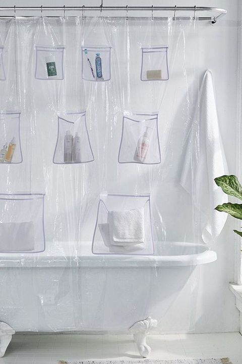 Urban Outfitters Mesh Pocket Shower Curtain Urbanoutfitters