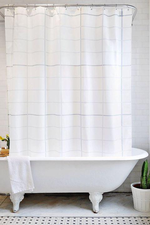 Bathage Grid Pattern Shower Curtain Amazon