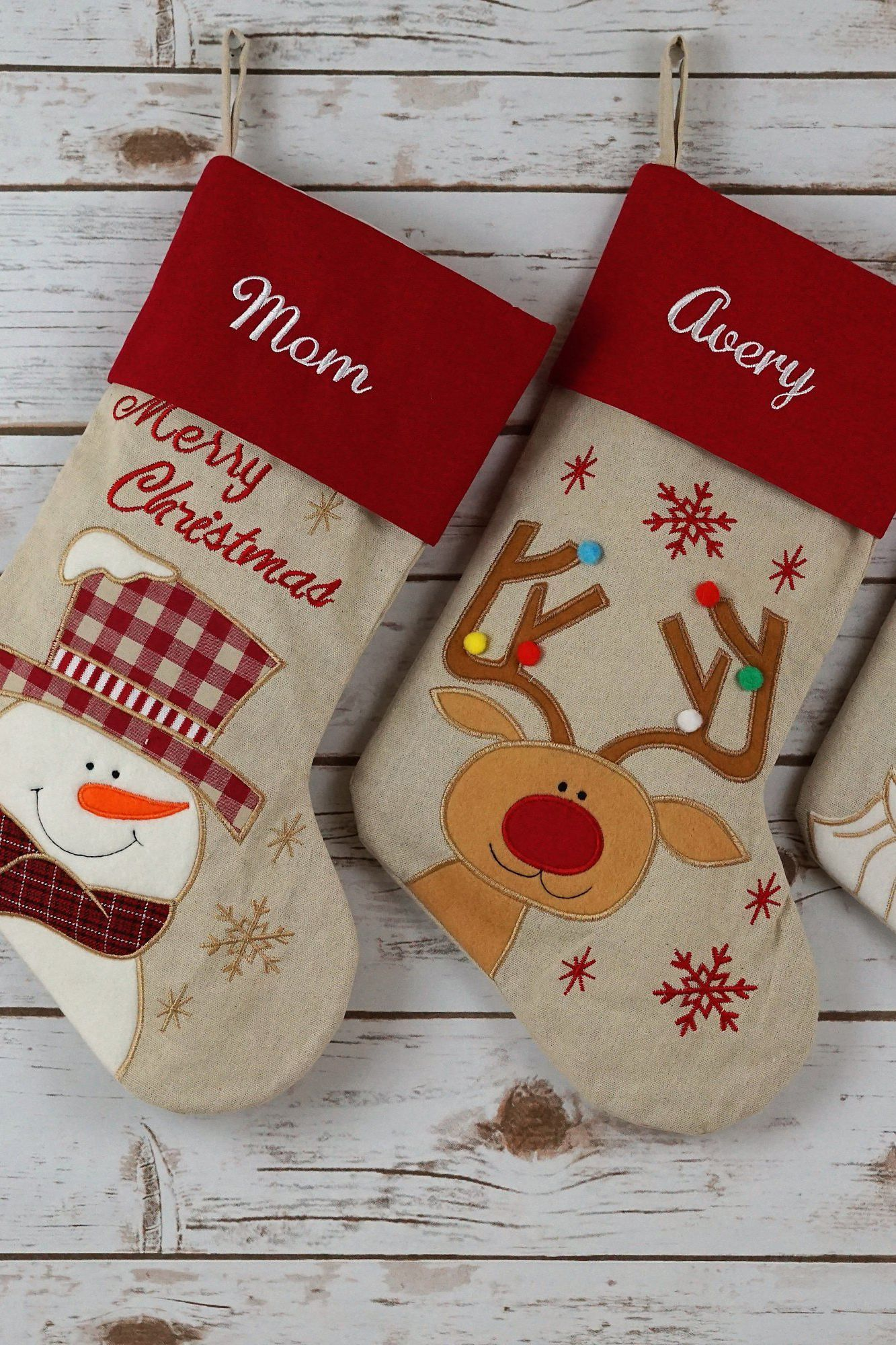 20 personalized christmas stockings embroidered and monogrammed stockings to buy - Embroidered Christmas Stocking