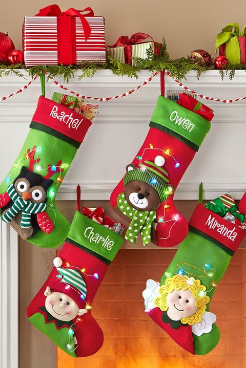 20 personalized christmas stockings embroidered and monogrammed