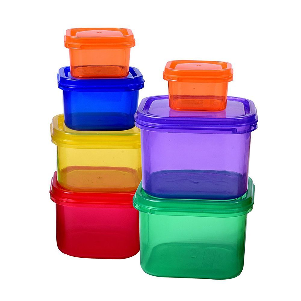 NEW EFFICIENT NUTRITION PORTION CONTROL CONTAINERS 7 PIECE SET w// Measuring Tape