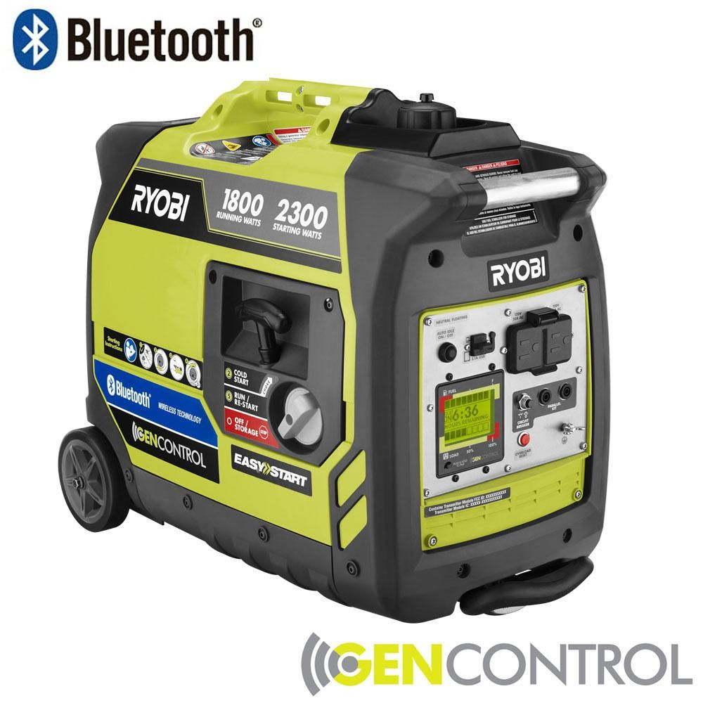 How To Hook Up A Generator Use Home Wiring House Ryobi Bluetooth 2300 Watt Super Quiet Gasoline Powered Digital Inverter