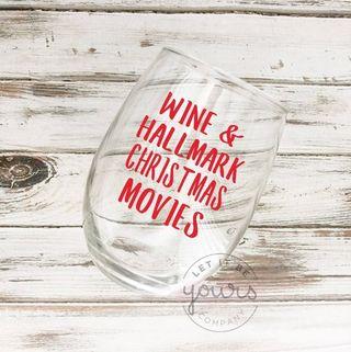 Hallmark Movies Wine Glass