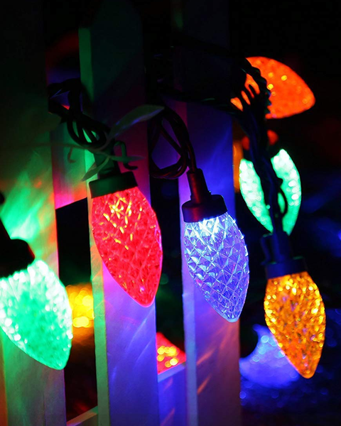 3 50 count led multi color c9 strawberry lights