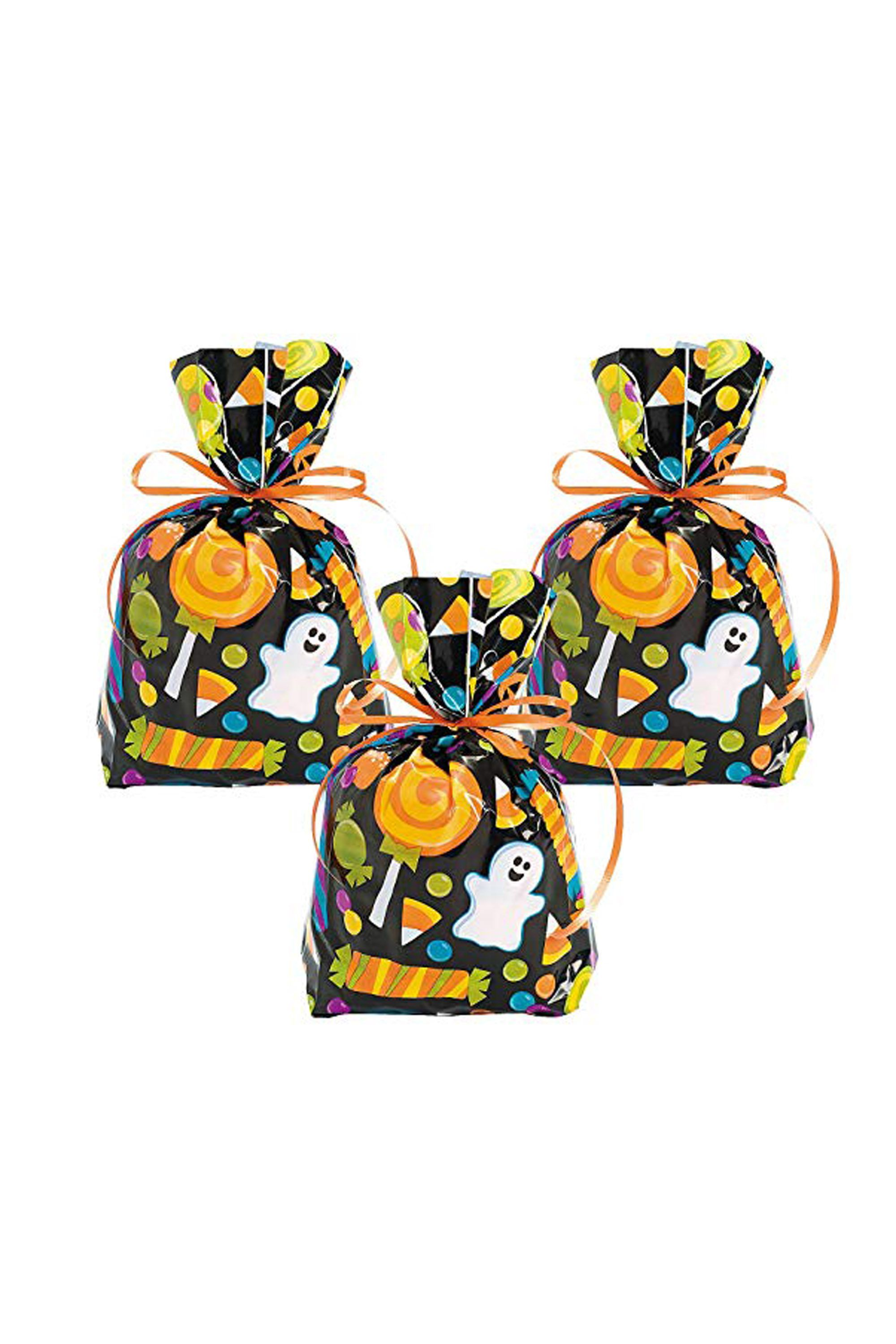 12 halloween treat bags - goodie bags for candy and trick-or-treating