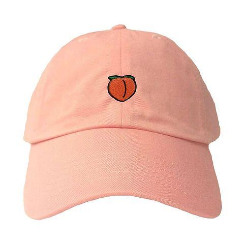 1 go all out adjustable peach emoji dad hat