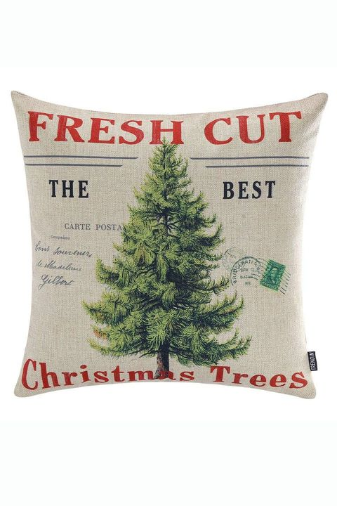 fresh cut trees christmas pillow cover