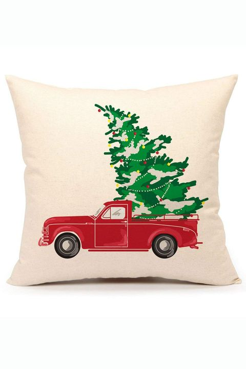 vintage red truck christmas pillow cover - Christmas Pillows