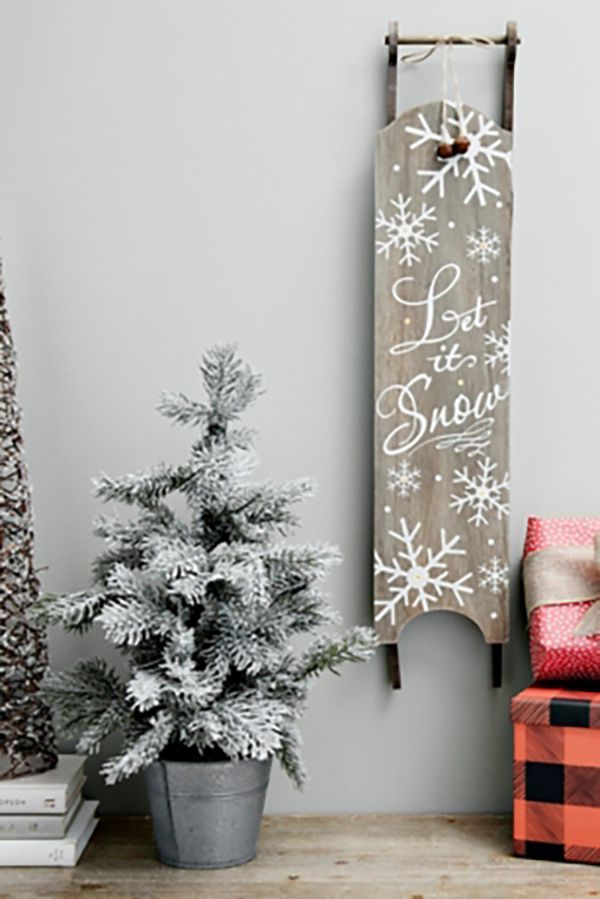 Let It Snow Sled Wall Hanging