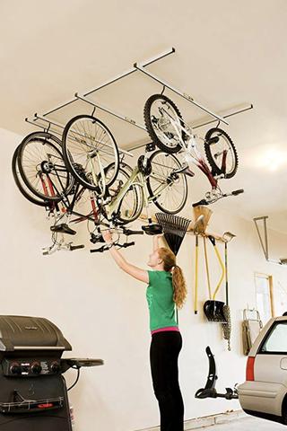 Soporte para bicicletas montado en el techo