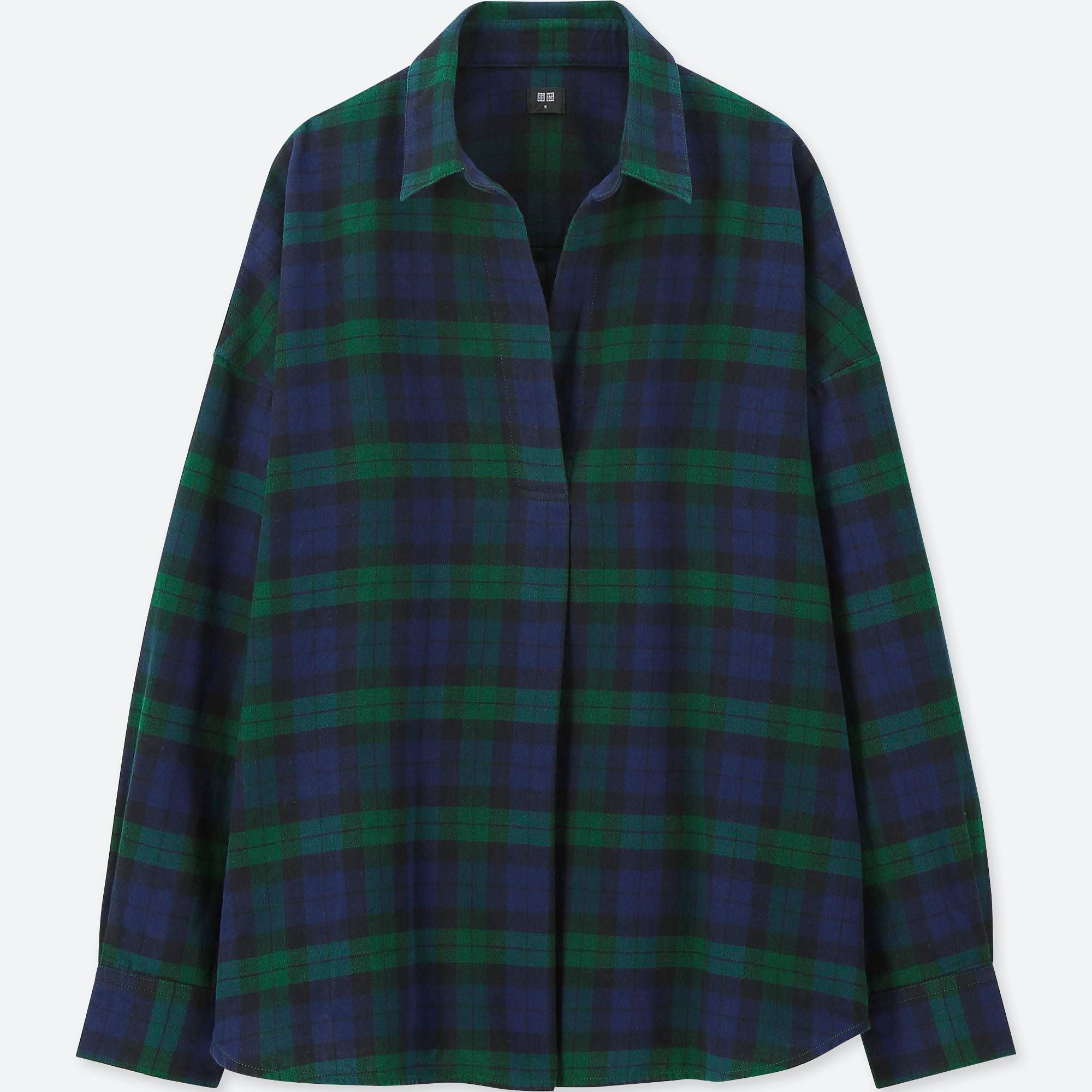 8ed80ccb Women Flannel Checked Skipper Long-Sleeved Shirt