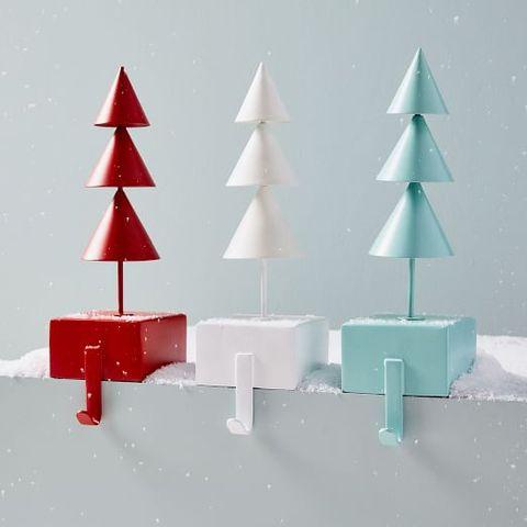 1 modern tree stocking holders