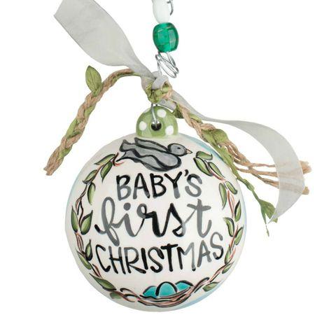 glory haus glory haus babys first christmas ceramic ball ornament