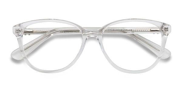 Eye Buy Direct Clear White Glasses