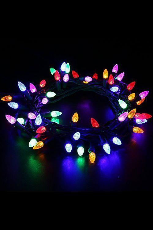 50 Multi Coloured LED String Light Solar Garden Lights