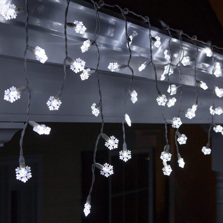 Snowflake Icicle Lights