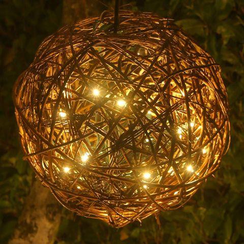 natural willow pendant lamp